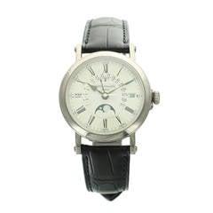 Patek Philippe White Gold Perpetual Calendar Wristwatch Ref 5159G