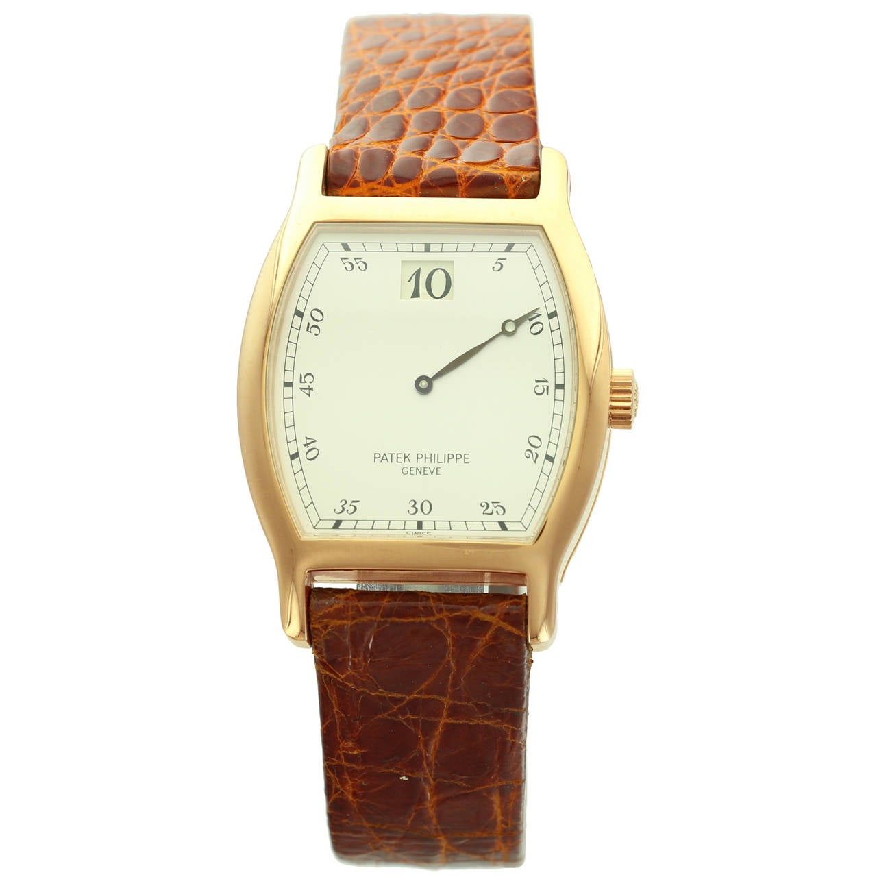 Patek Philippe Rose Gold Jumping Hour Wristwatch Ref 3969R