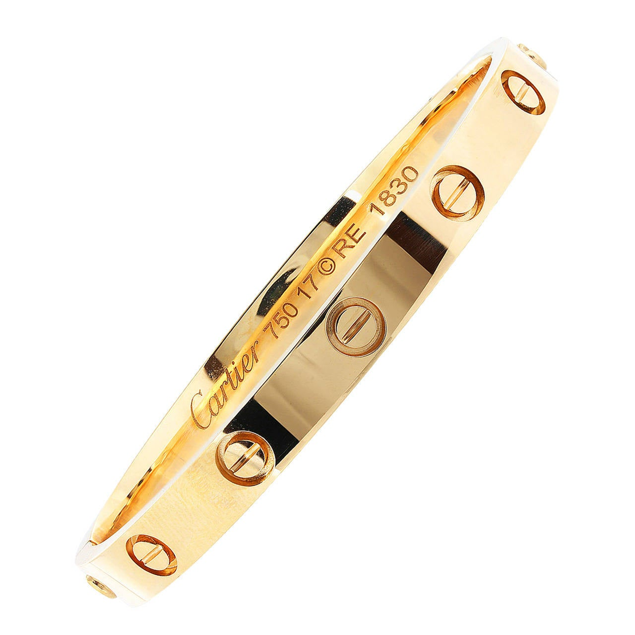 Cartier Gold Love Bracelet For Sale