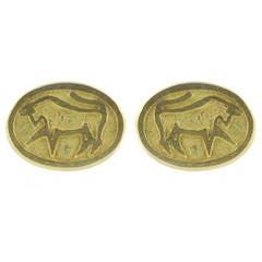 Cartier Gold Taurus Cufflinks