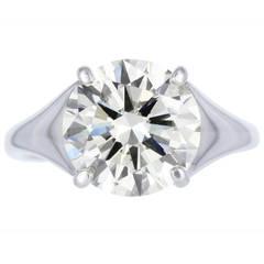3.34 Carat Diamond Solitaire Engagement Ring