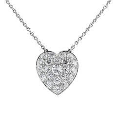Heart Diamond Platinum Pendant