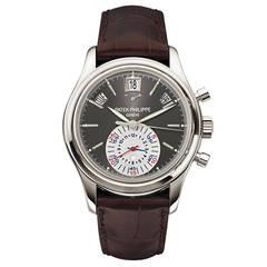 Patek Philippe Platinum Annual Calendar Chronograph Wristwatch Ref 5960P