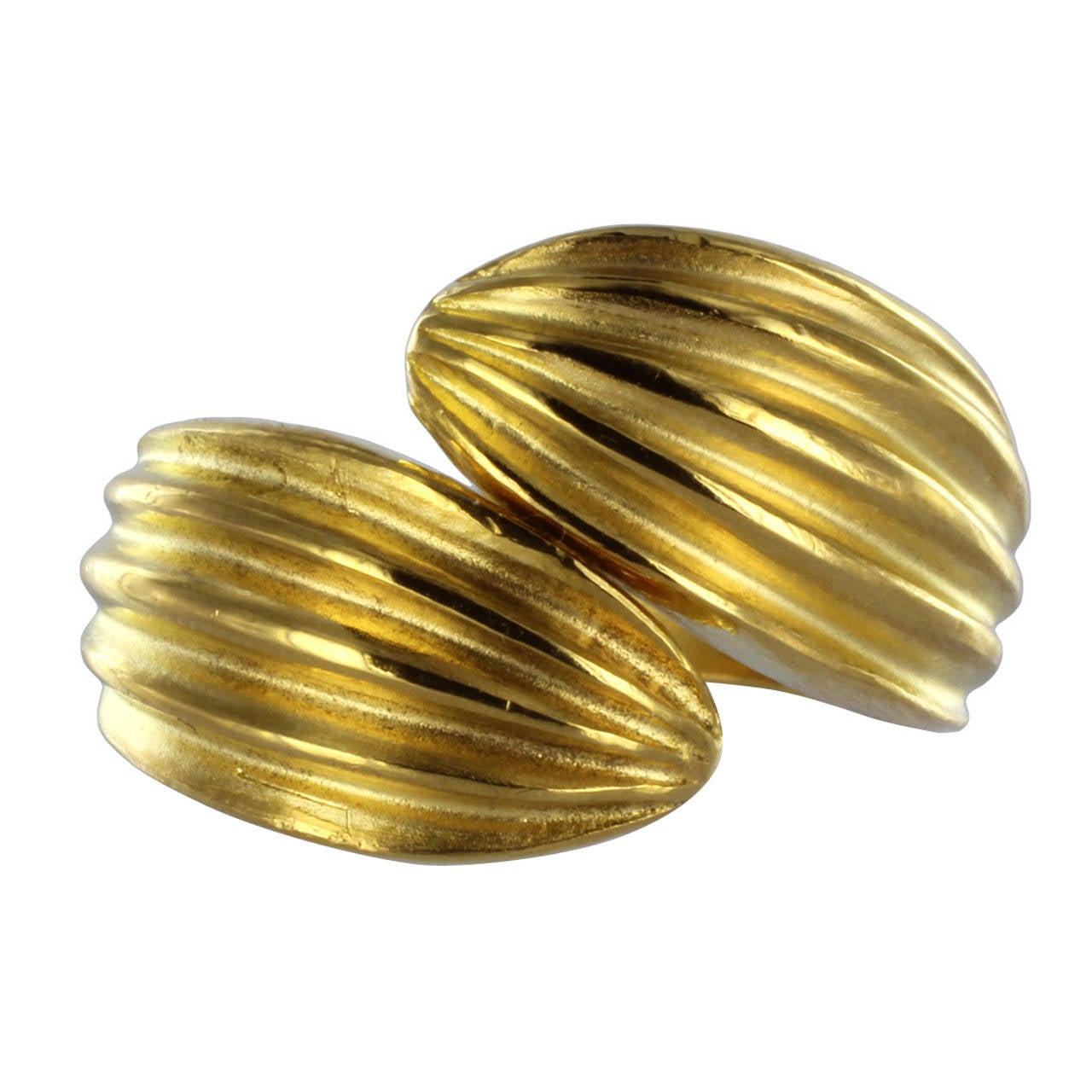 24 karat gold bypass ring. Black Bedroom Furniture Sets. Home Design Ideas