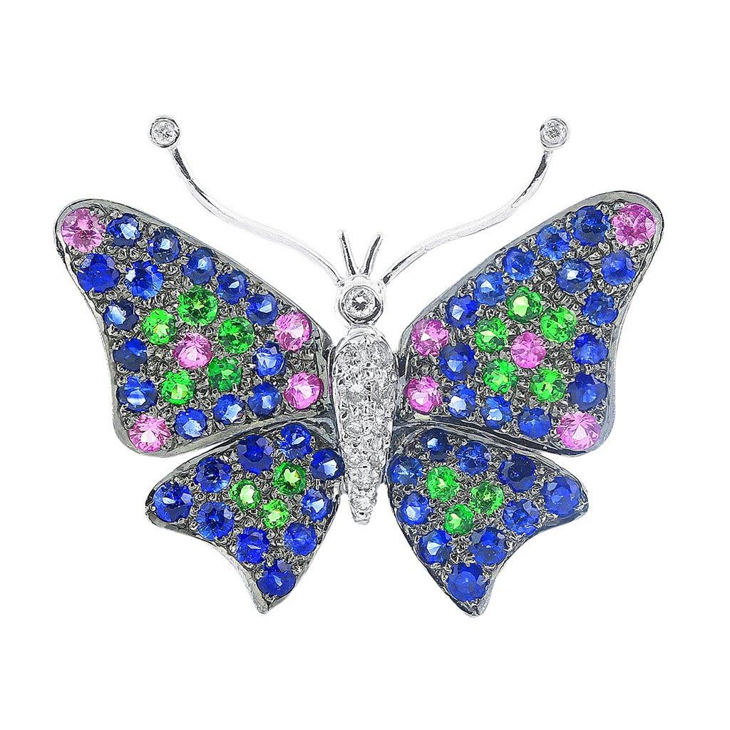 Gem Set Butterfly Pin