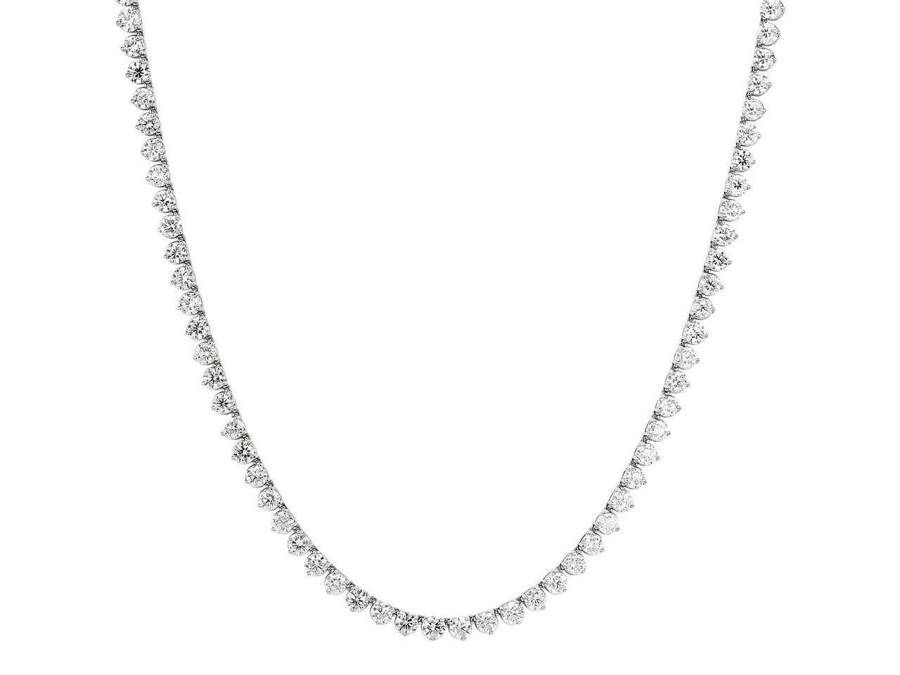 55.53 Carat Diamond 32 Inch Riviere Necklace 2