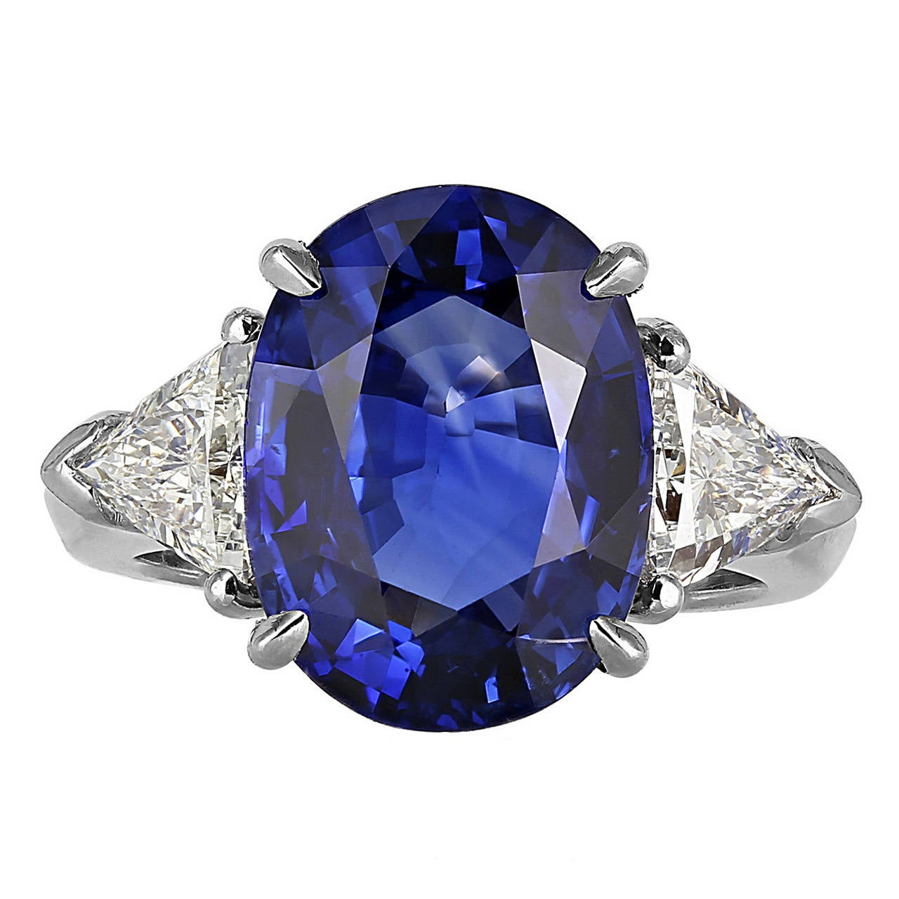 custom sapphire platinum blue ceylon ring gia appraisal cut g emerald ct i