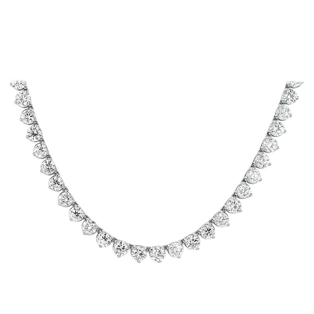 55.53 Carat Diamond 32 Inch Riviere Necklace