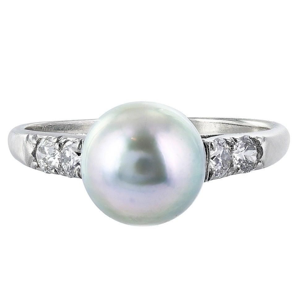 tahitian pearl and ring at 1stdibs