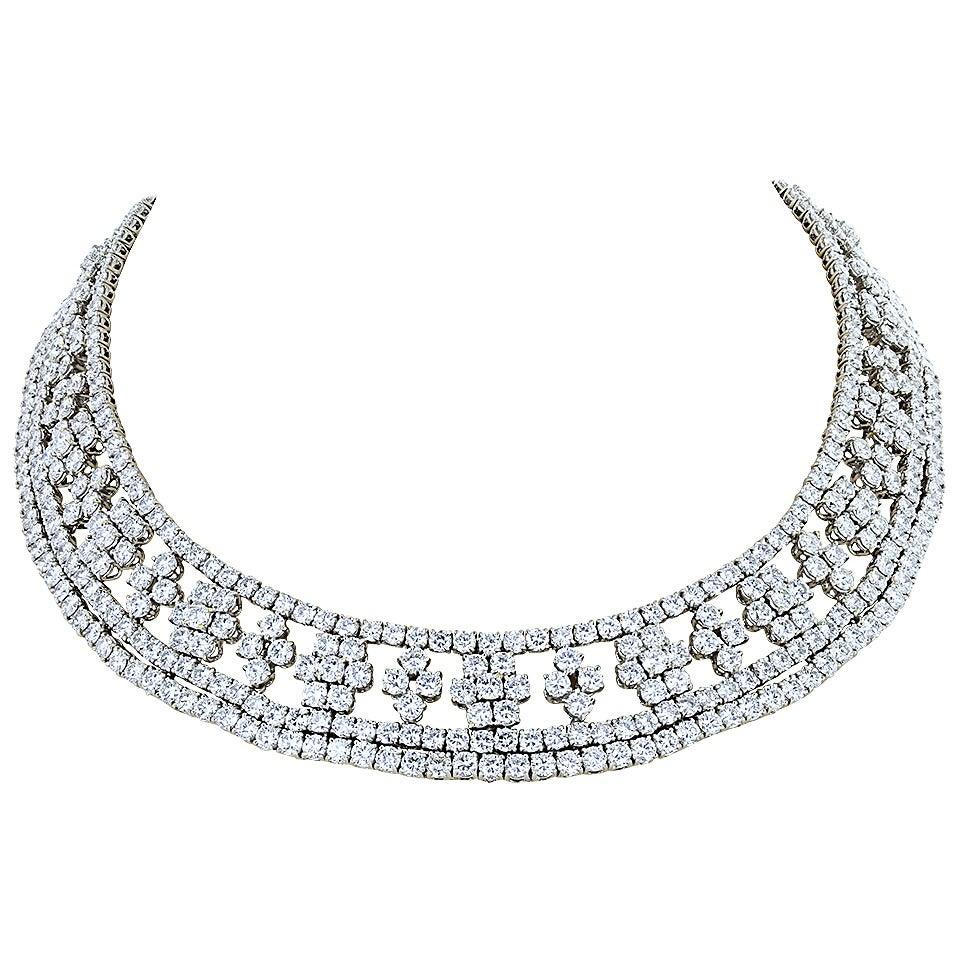 Marcus & Co 90 Carat Diamond Necklace 1