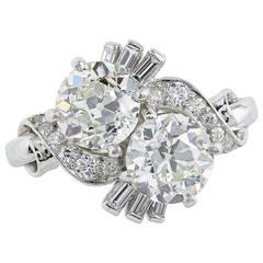 Raymond Yard Crossover Diamond Ring 2.60 Carat