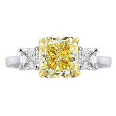 2.48 Carat Yellow Diamond Ring