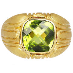 Peridot Gold Cocktail Ring