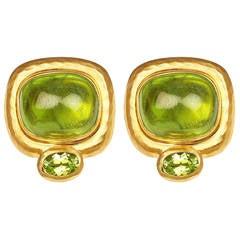 Peridot and Gold Earrings