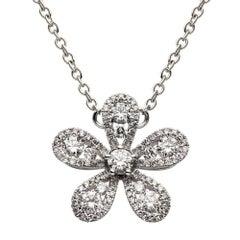 Flower Motif Diamond Pendant