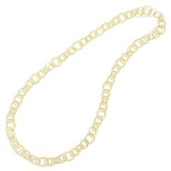 18 Karat Yellow Gold Hawaii Link Necklace, Buccellati