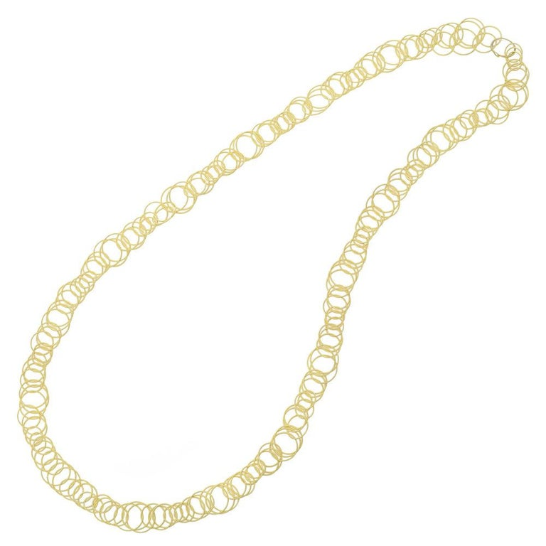 18 Karat Yellow Gold Hawaii Link Necklace, Buccellati