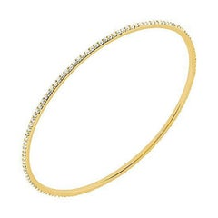 18 Karat Yellow Gold Diamond Eternity Bangle