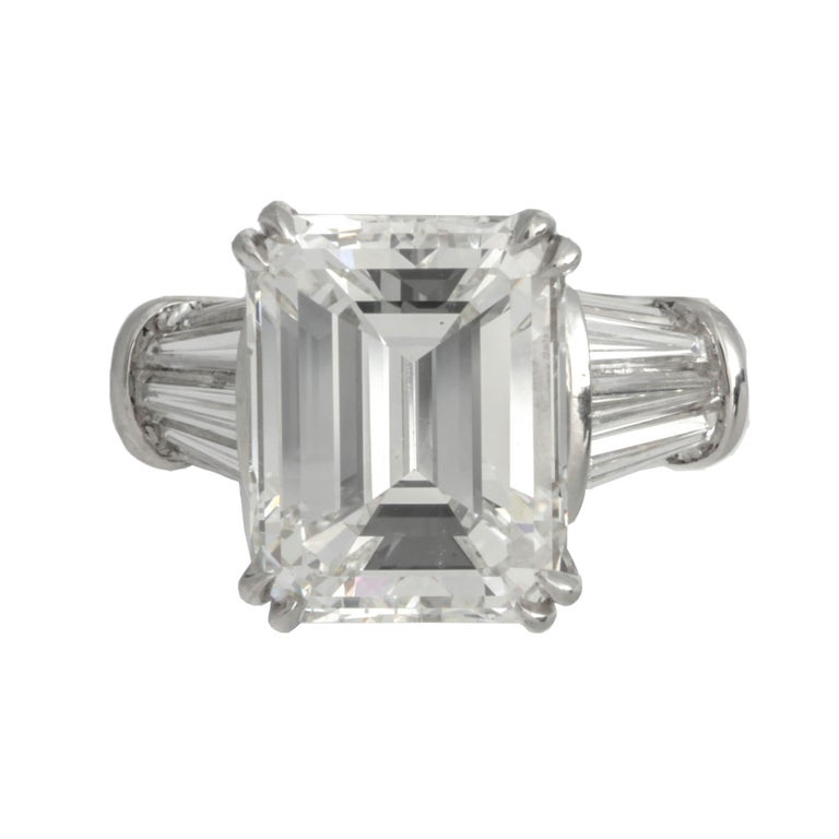 GIA Certified 8.97 Carat G/VS2 Emerald Cut Diamond Ring 'Platinum'