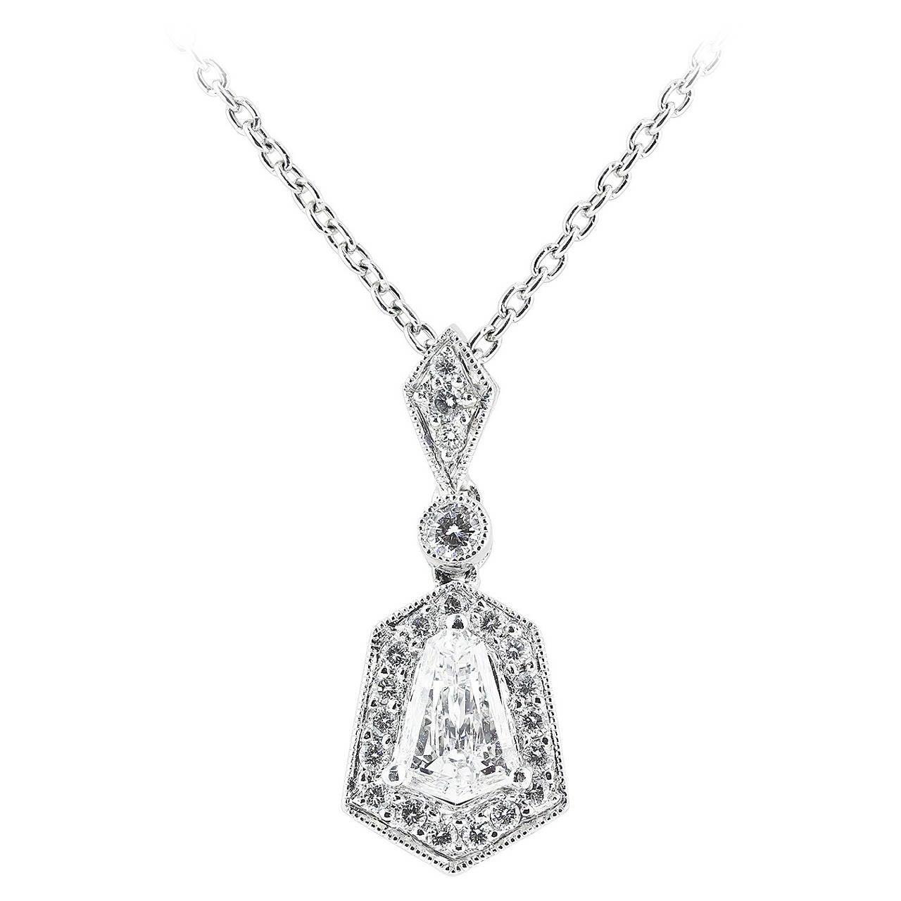 1.20 Carat Diamond Platinum Pendant 1