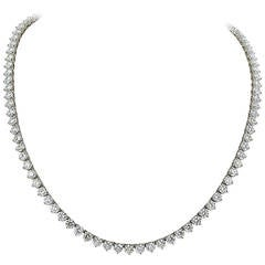 46 Carat Opera Length Diamond Platinum Necklace
