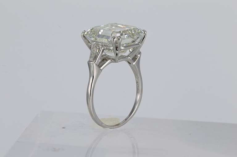 harry winston 13 24 carat emerald cut ring at 1stdibs