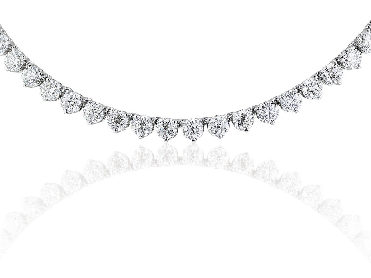 46 Carat Opera Length Diamond Platinum Necklace 3
