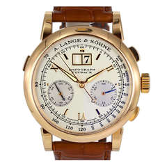 A. Lange & Sohne Rose Gold Datograph Flyback Date Chronograph Wristwatch