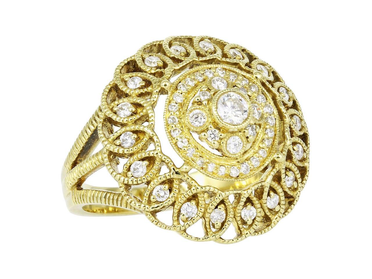 Leslie greene diamond and gold ring for sale at 1stdibs for Leslie greene jewelry designer
