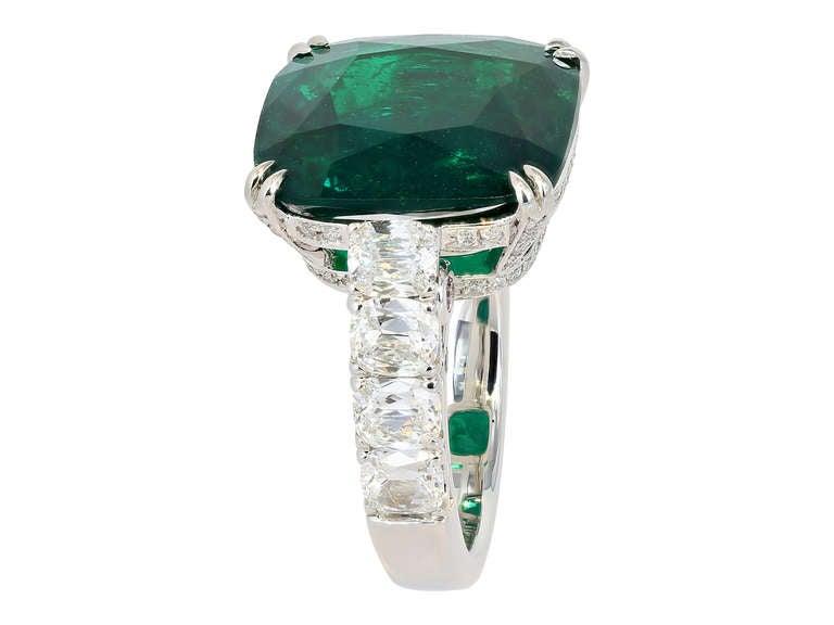 10 14 carat color emerald ring at 1stdibs