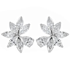 10.50 Carat Diamond Cluster Earrings (Platinum)
