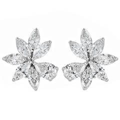 10.50 Carat Diamond Cluster Earrings