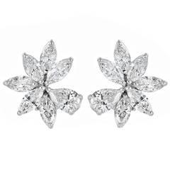 10.50 Carat Diamond Cluster Earrings