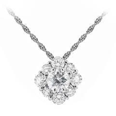 1.64 Carat Diamond Cluster Pendant