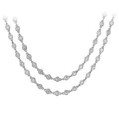 27.53 Carat Diamond Gold Chain Necklace