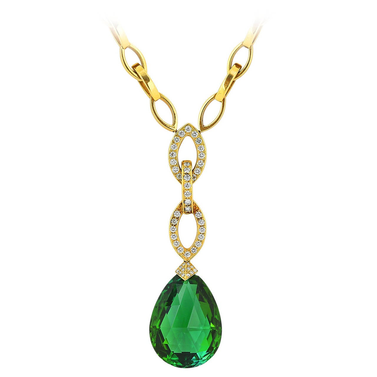 Mimi So Tourmaline Diamond Gold Necklace
