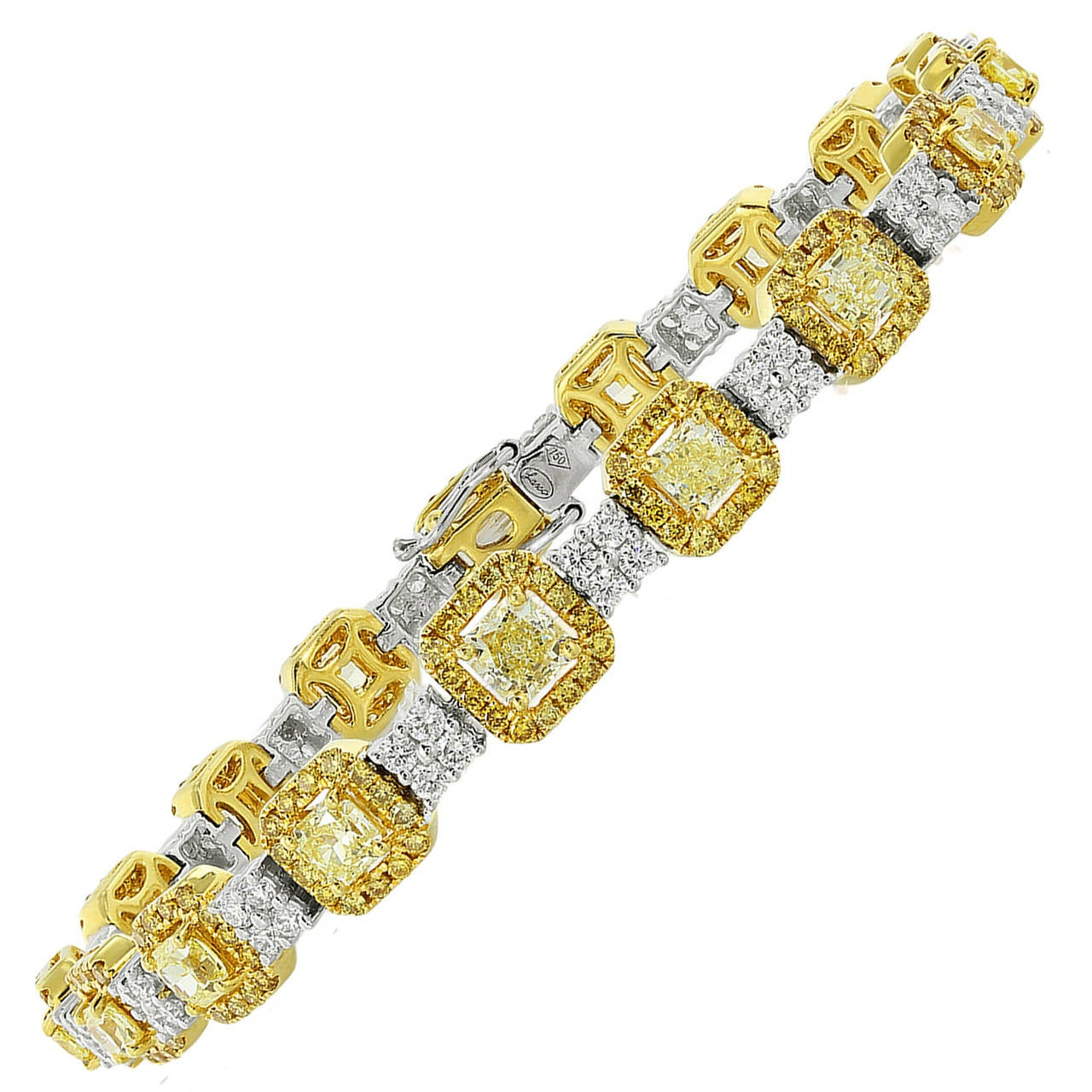 5.14 Carat Diamond Gold Link Bracelet
