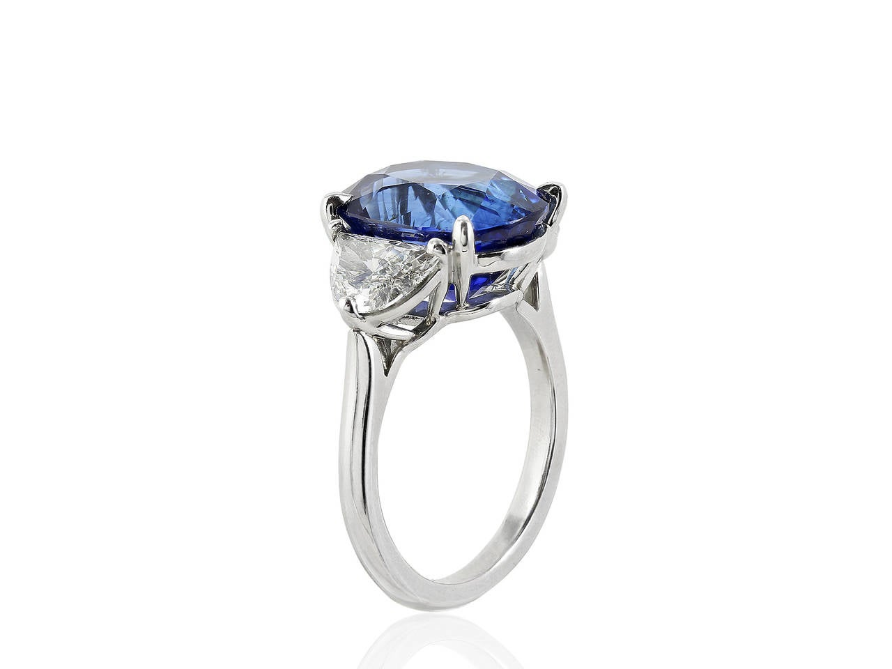 8 45 carat ceylon sapphire platinum three