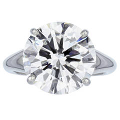 3.22 Carat Round Brilliant F/SI1 GIA Certified Diamond Engagement Platinum Ring
