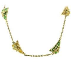 Plique-a-Jour Enamel Necklace