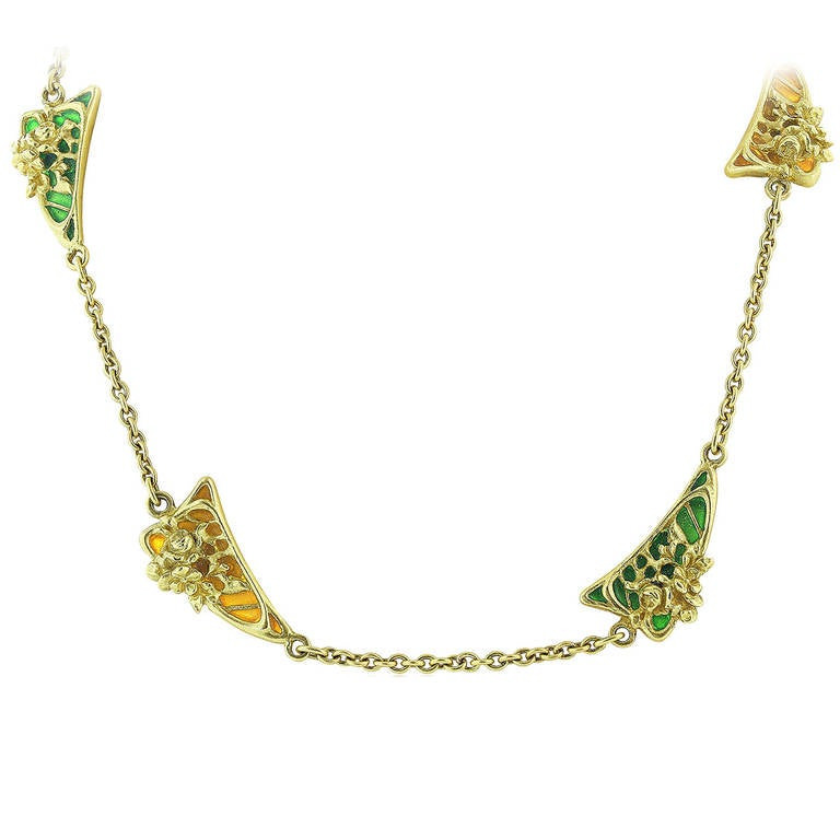 Plique-a-Jour Enamel Necklace 1