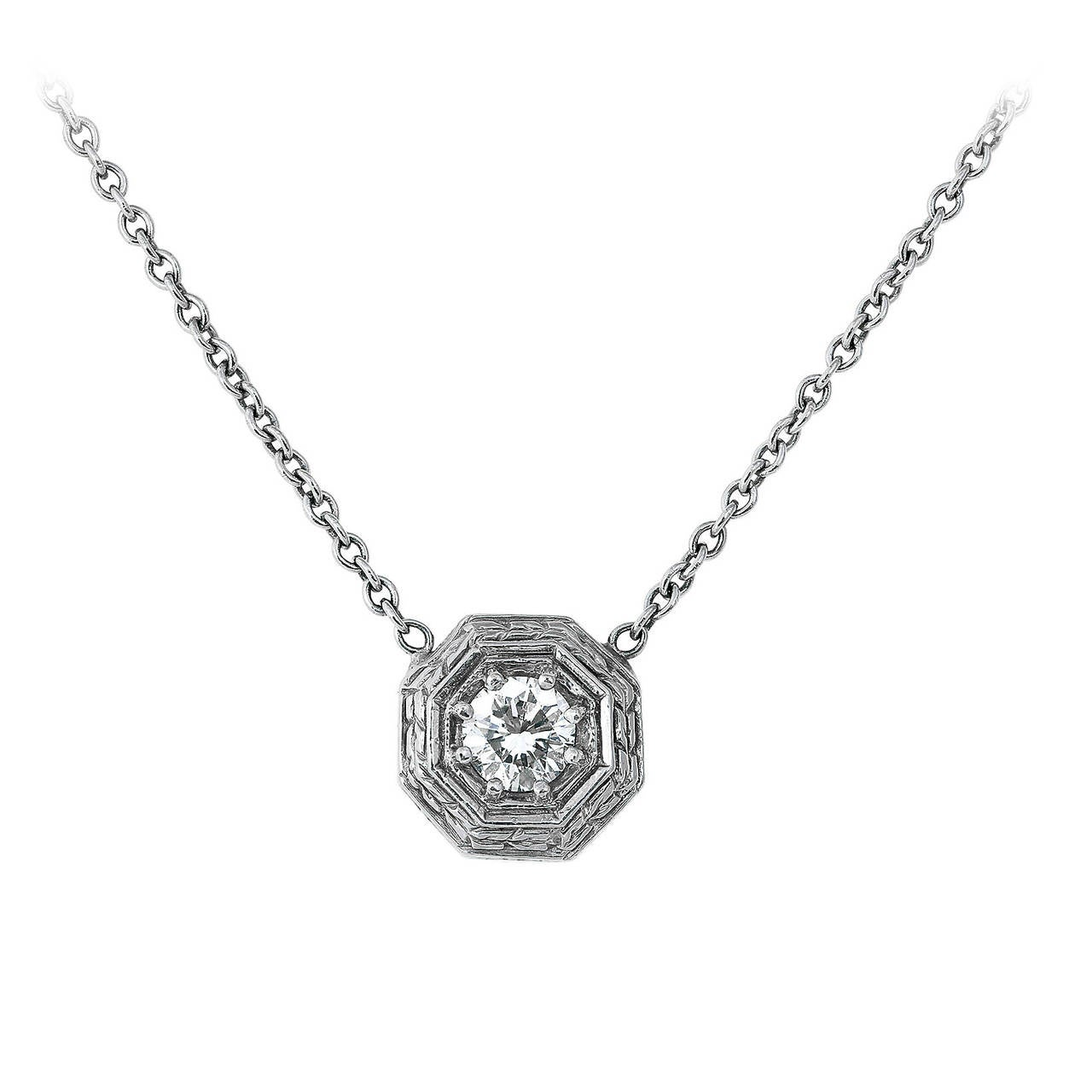 .52 Carat Diamond and Gold Pendant