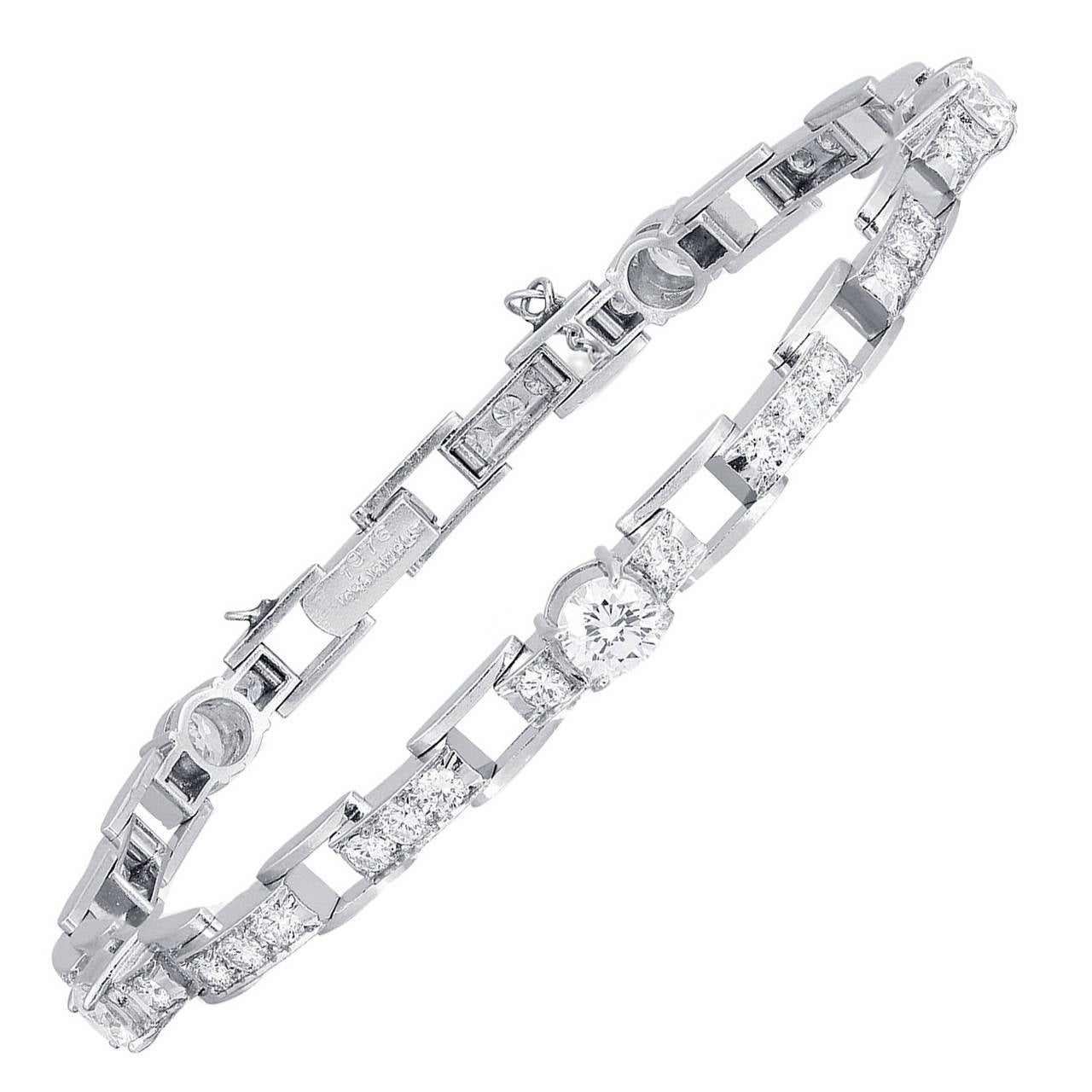 Diamond Platinum link Bracelet