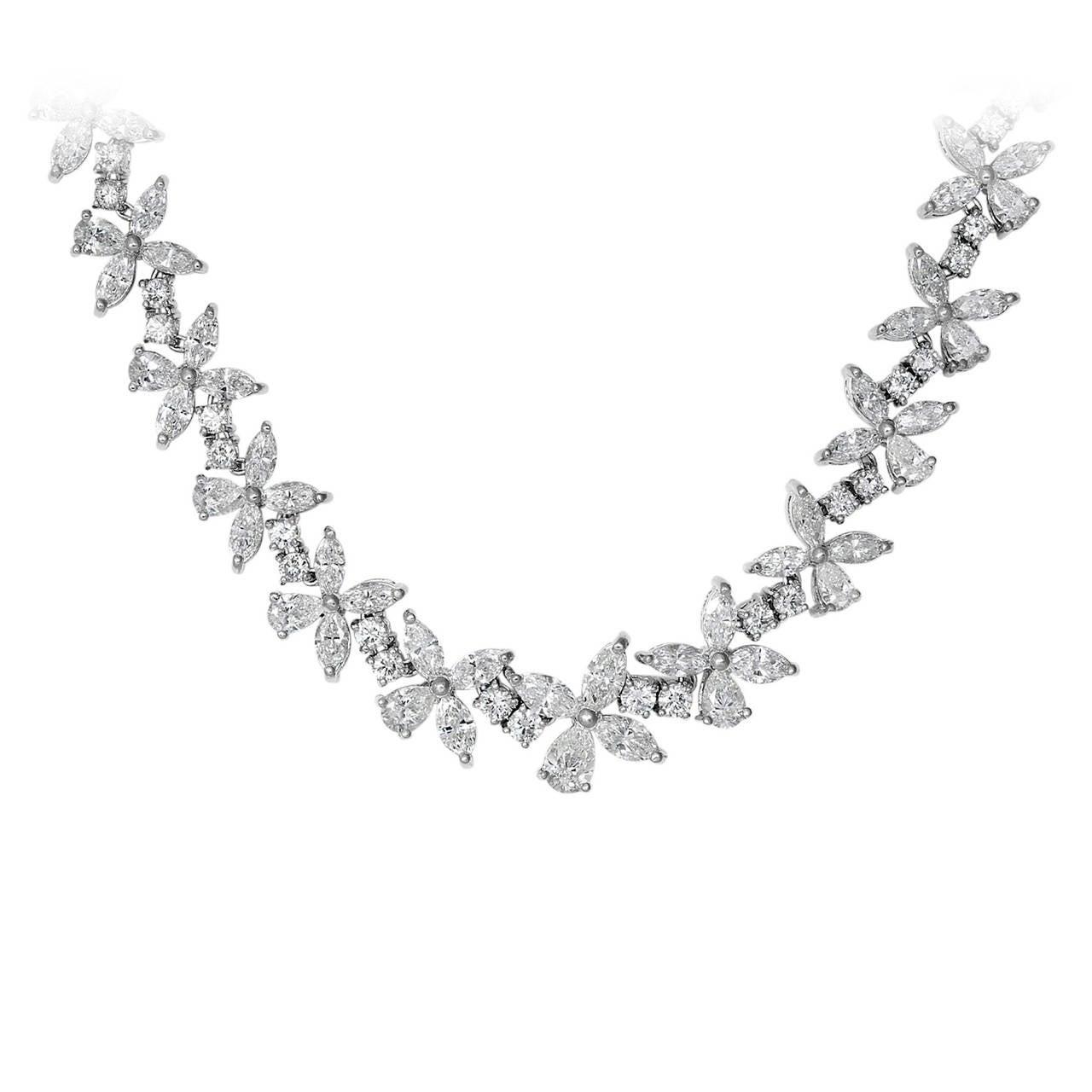 40.46 Carat Fancy Shape Diamond Necklace