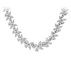 40.46 Carat Fancy Shape Diamond Necklace