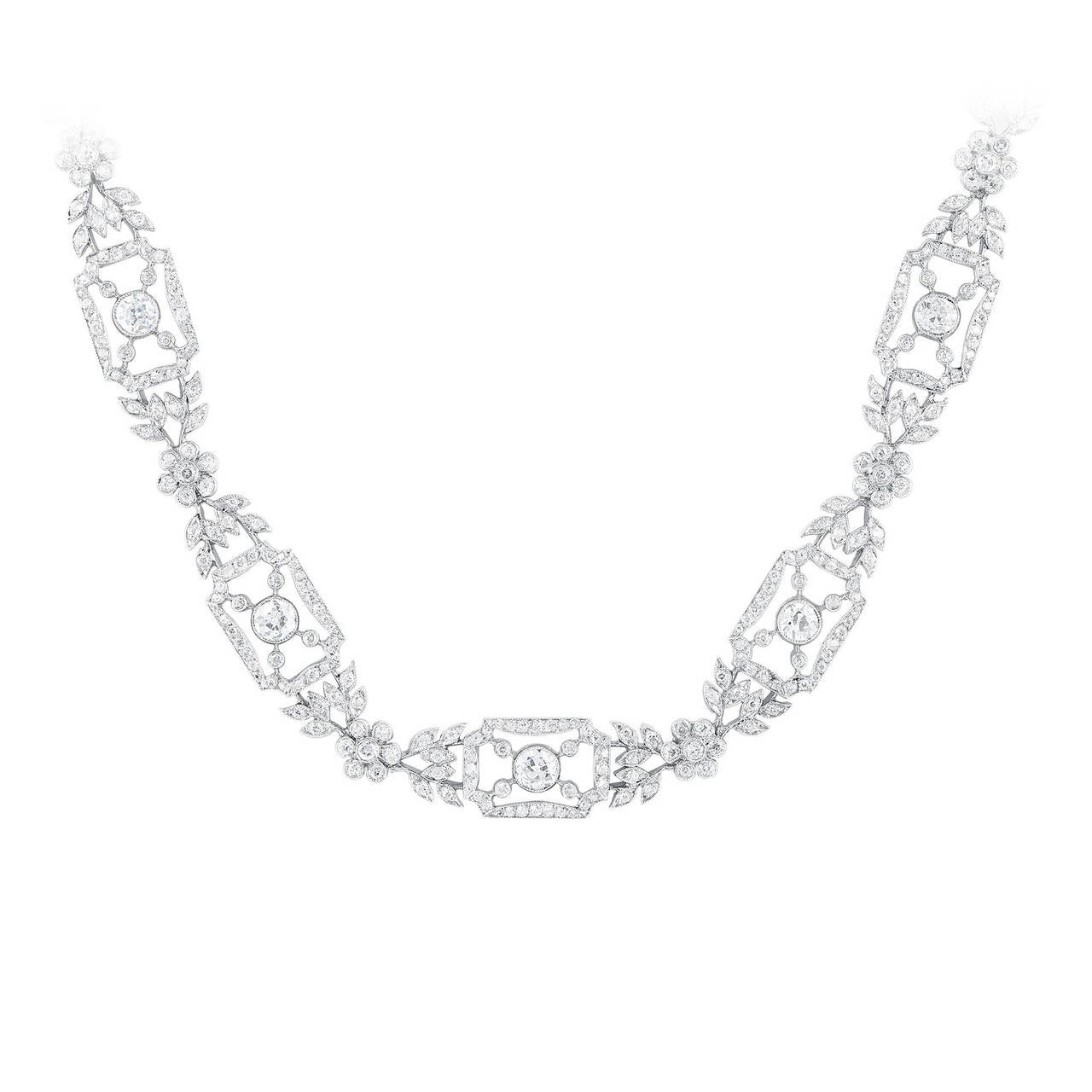 15.00 Carat Diamond and Platinum Necklace