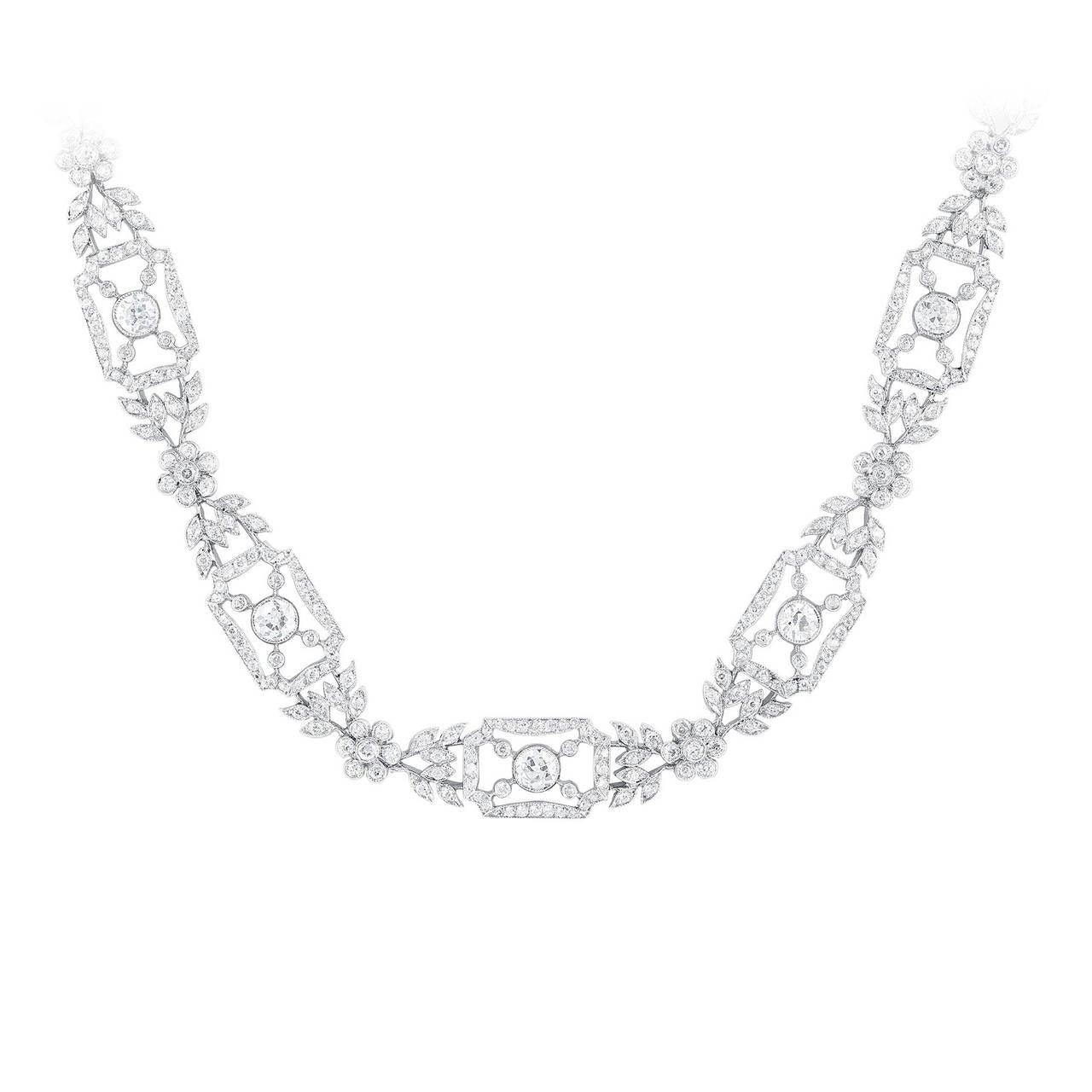 15.00 Carat Diamond and Platinum Necklace