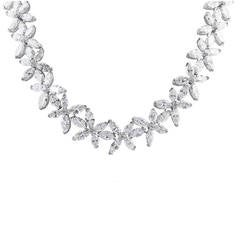 50.25 Carat Diamond Floral Motif Necklace