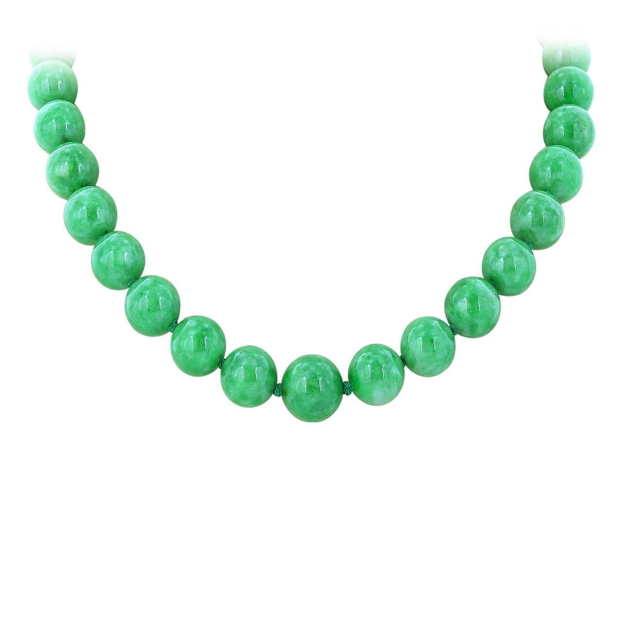 jadeite jade bead necklace at 1stdibs