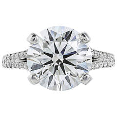5.06 Carat GIA Certified J SI1 Brilliant Cut Diamond Platinum Solitaire Ring